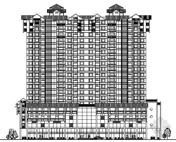 汕头市华景苑某十九层住宅楼建筑方案图