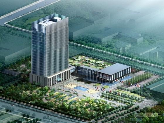 [河北]某二十一层企业办公楼建筑方案文本