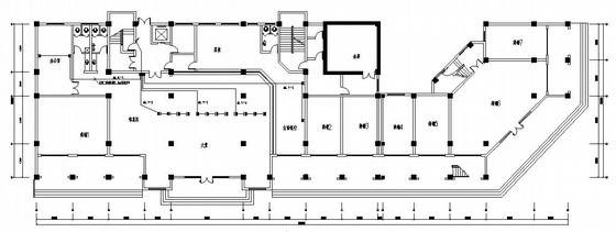 某大楼机房平面图及电气及弱电图纸