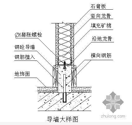 轻钢龙骨石膏板隔墙施工工艺