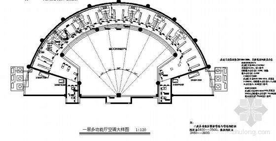 某多功能厅空调平面图