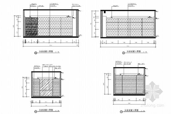[北京]经济开发区新能源汽车有限公司办公室施工图 会议室立面图