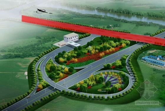 [河南]高速公路单喇叭互通式立交方案汇报三维动画演示(14分钟)