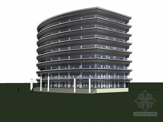 高大办公建筑SketchUp模型下载