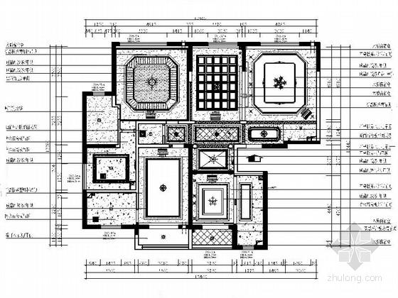 [西安]欧式风格三居室雅居室内设计施工方案图