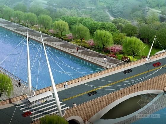 [山东]2座人行景观桥建设工程预算书(含图纸招标文件)