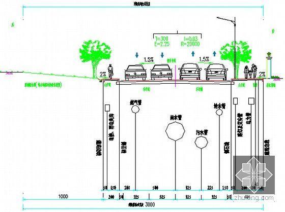 管线综合标准横断面图