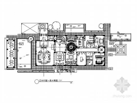 [深圳]某高端简欧双层空中别墅施工图(含效果模型)