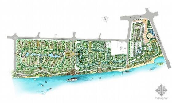 四川乐山某国际社区景观手绘总平面图