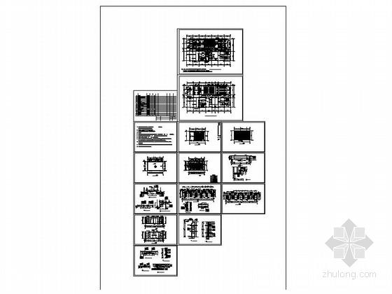 [河南]某高级办公视频会议室室内设计CAD施工图-[河南]某高级办公视频会议室室内设计缩略图