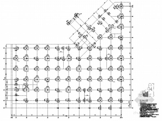 [河南]地上四层框架结构F区商业区结构施工图