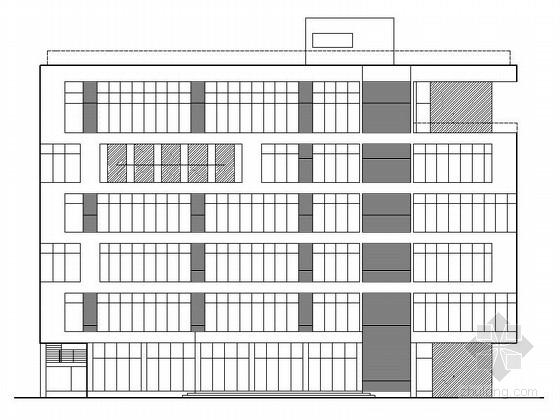 [广东]现代风格六层办公楼施工图(含水电结构施工图)