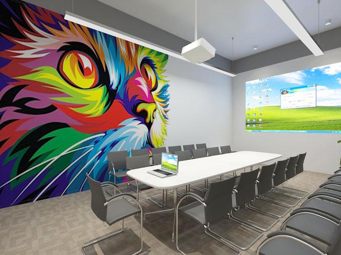 530平方中型创意办公室会议室装修设计案例效果图图片