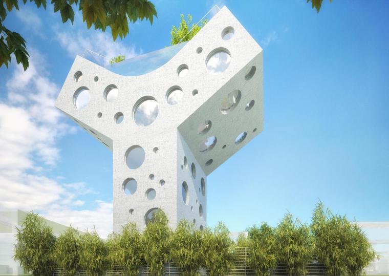 #每日毒评新建筑#——谁动了哥的奶酪!-MVRDV在台南的Y型住宅