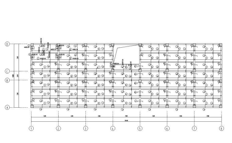一字型框架办公楼建筑图结构图计算书