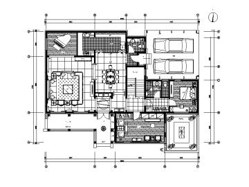 【江苏】中式风格别墅设计CAD施工图(含效果图)