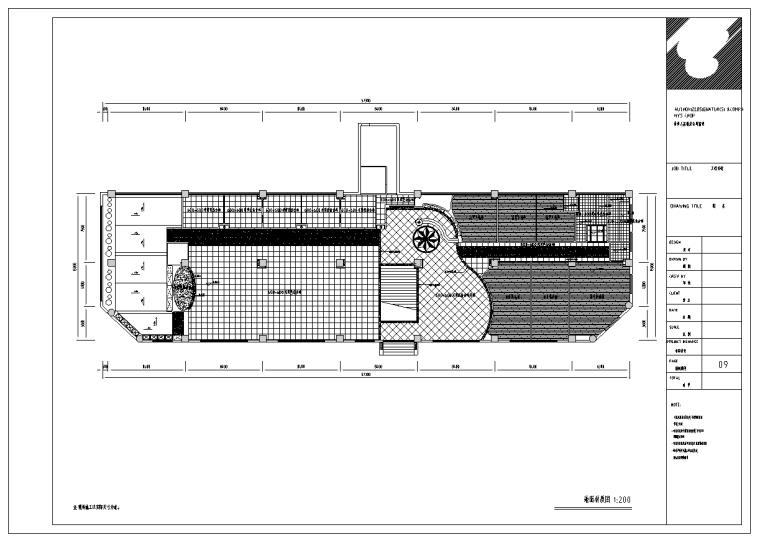 成都某现代风格大饭店餐厅室内装修施工图(39张)
