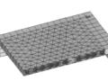 泡沫混凝土型块填充板的试验与有限元分析