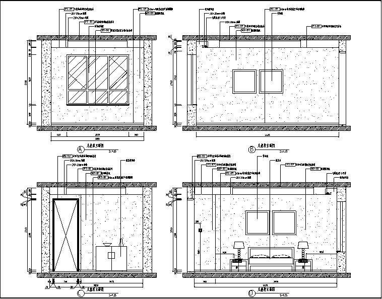 [山东]泰安中齐国山墅样板间设计施工图(附效果图)