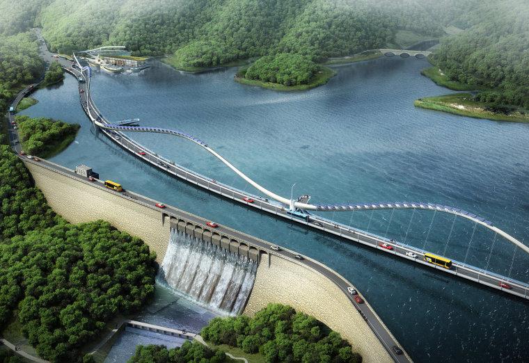 香港长龙大桥景观
