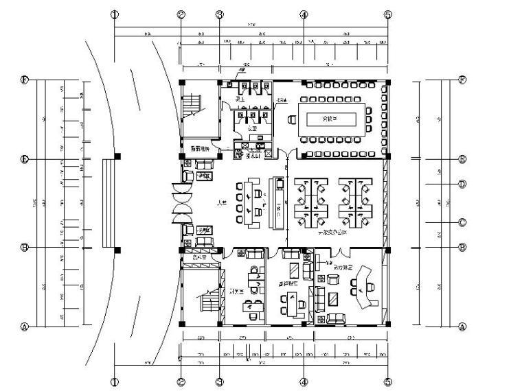 [武汉]某知名纤维制品公司办公室设计施工图(含效果图)