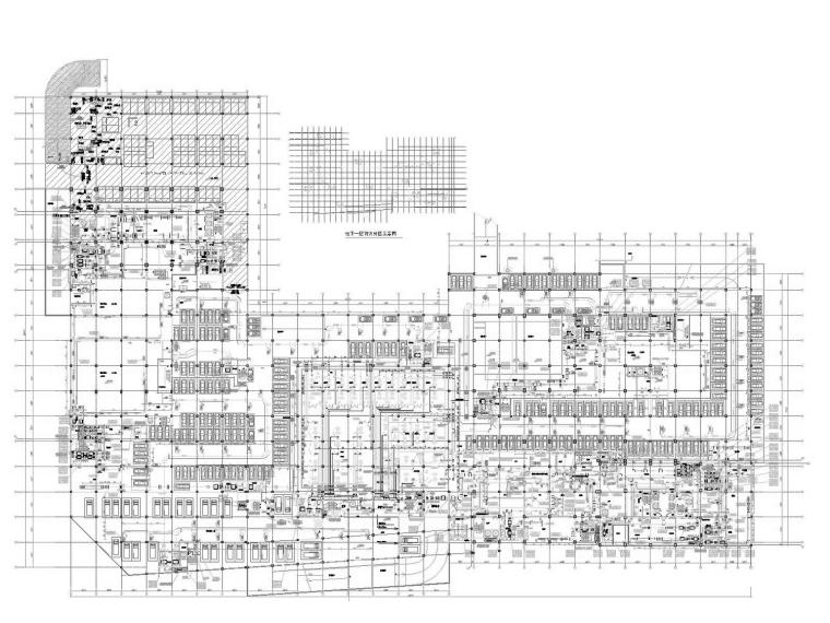[江苏]高层办公楼空调通风及防排烟系统设计施工图(人防设计)