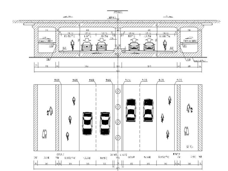 城市次干道改造工程施工图设计300张(桥梁,地道,交通,管线)