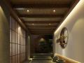 日式料理店枯山水玄关3D模型