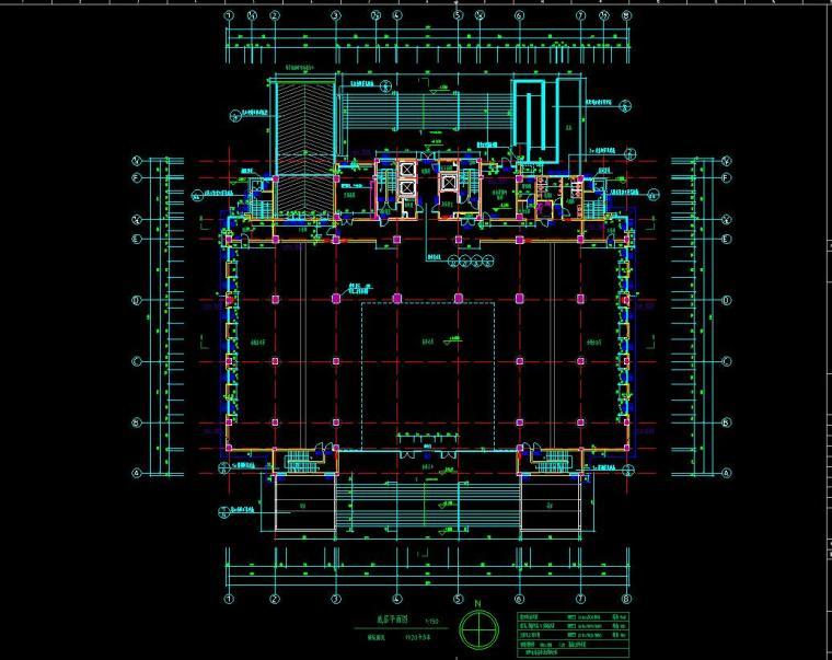 [山东]某地税局办公楼施工图设计(14个CAD+80张图)_2