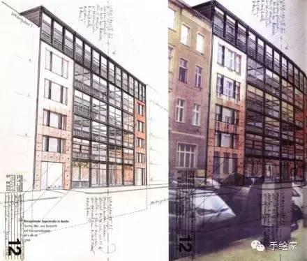 百年经典建筑设计手绘图_56