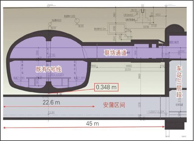 基于BIM的地铁隧道超近间距CRD法施工4D仿真_3