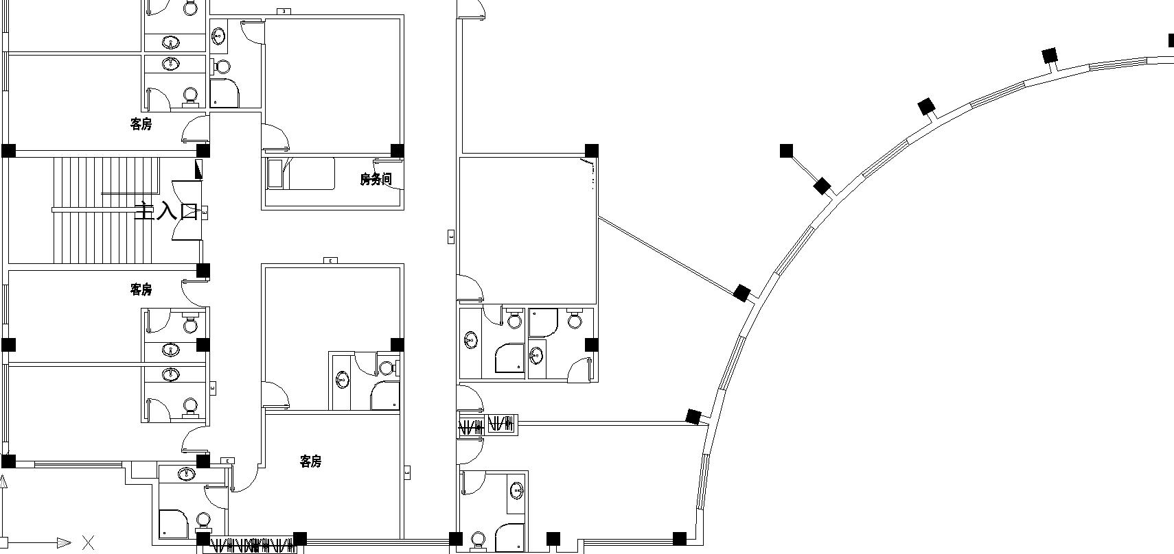 某宾馆电路消防布置图