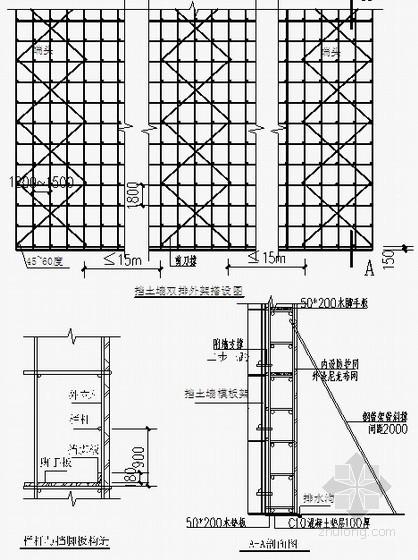 [四川]毛石混凝土挡土墙施工方案