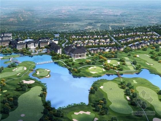 [上海]可持续生态滨水高尔夫度假村总体规划设计方案