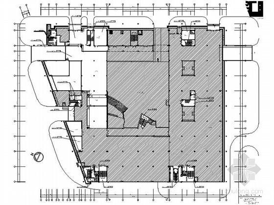 [江苏]现代国际丝绸集团控股子公司办公楼装修设计施工图