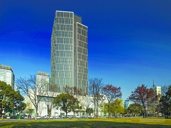 [上海]28层钢梁-框架核心筒结构超高层超甲级写字楼结构施工图(133.5米 国际十大联合事务所)