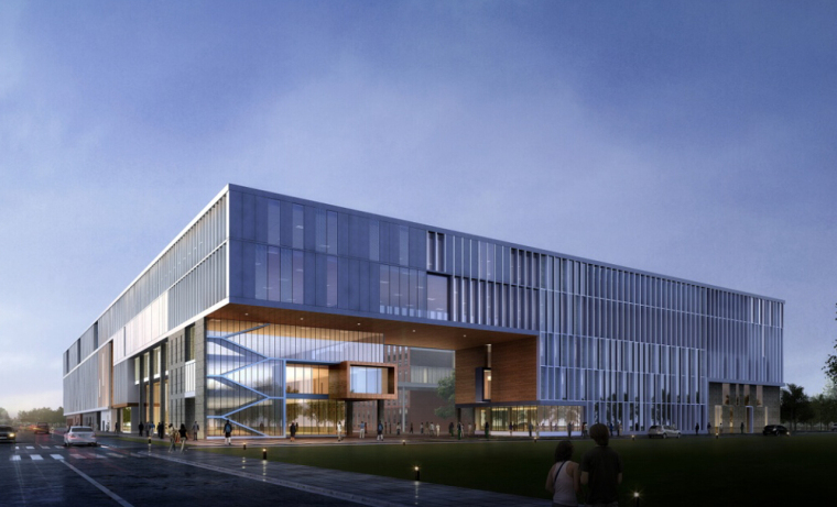 [北京]某大学多层基础教学楼建筑设计方案文本(2套)