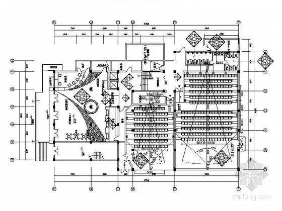 [江苏]知名设计院时尚现代电影院室内装修CAD施工图