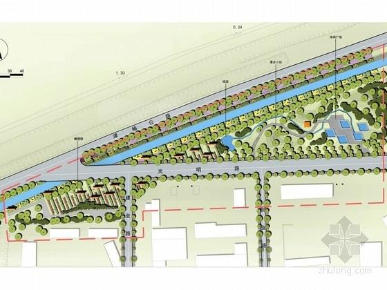 [江苏]田园风光式城市入口道路周边绿地景观设计方案