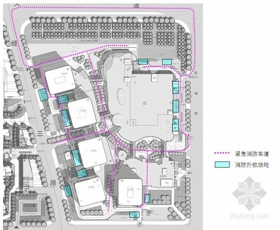 现代风格国际商业区规划分析图
