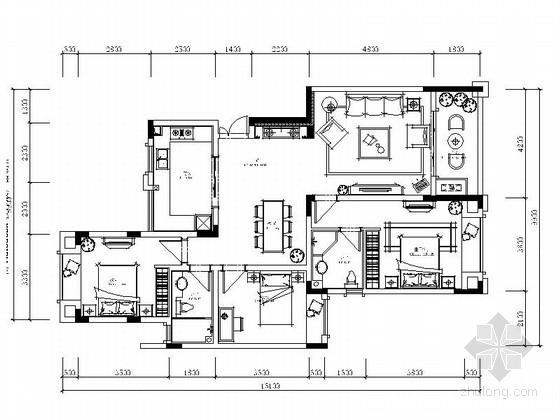 [重庆]欧式奢华三室两厅室内装修图