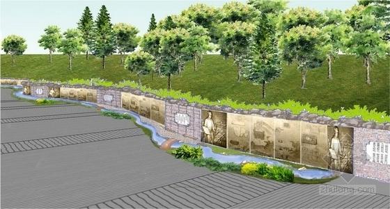 浮雕景墙效果图