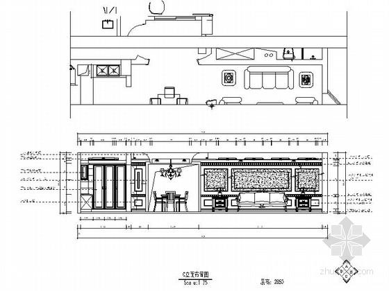 [南京]欧式田园温馨三居室室内装修图(含实景) 立面