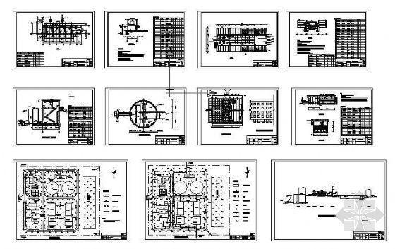 九江某县给水厂设计图纸