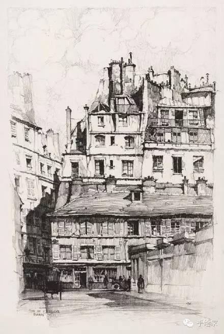 百年经典建筑设计手绘图_15