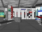 汽车油漆展厅室内设计|SU模型
