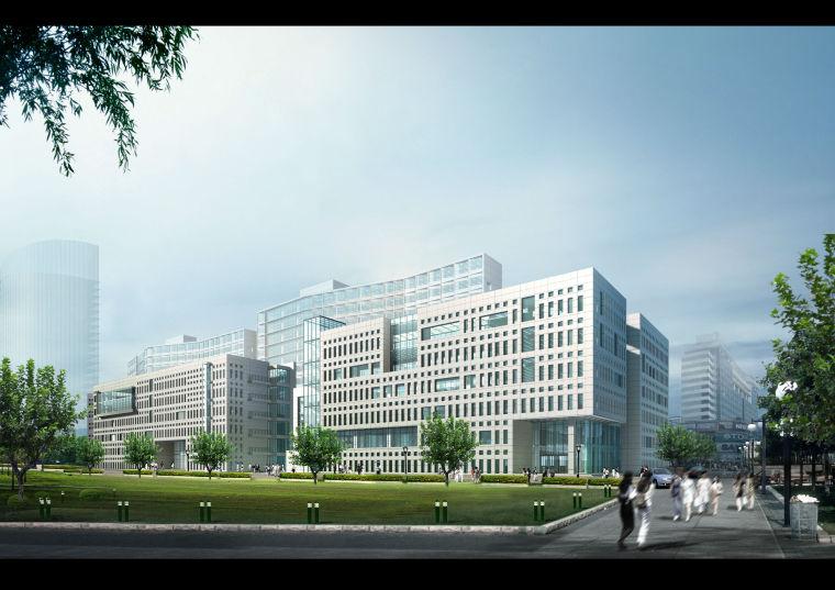 vray渲染建筑教学资料下载-某大学教学及研发中心大楼建筑方案文本(含CAD)