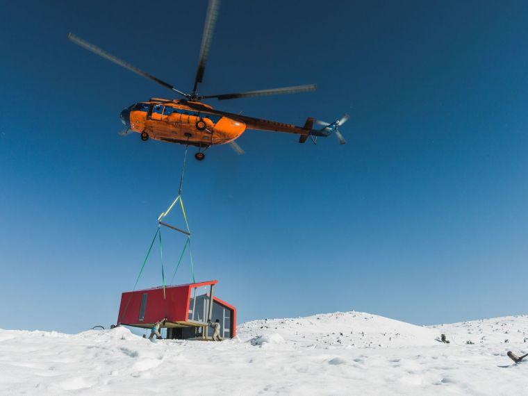 俄罗斯雪地上的DublDom预制观景屋-11