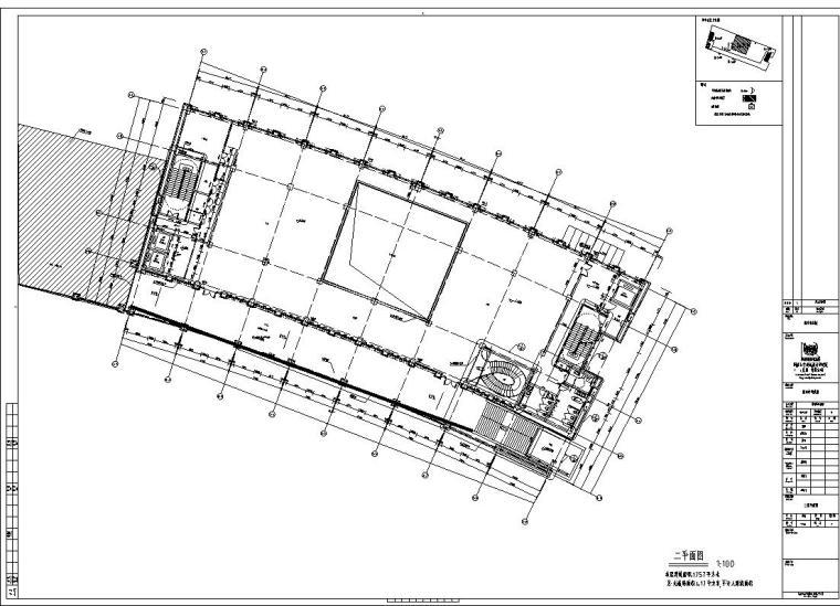 某市科技馆全专业建筑设计施工图(CAD+水电+结构+建筑)
