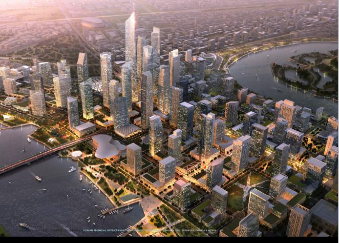 超高层现代风格金融办公区规划建筑设计方案文本
